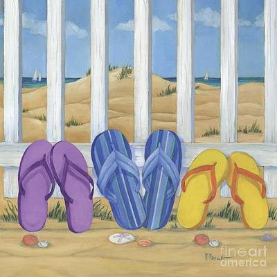 Sandals Painting - Flip Flop Beach II by Paul Brent