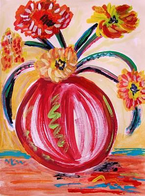 Visionary Art Drawing - Flirty by Mary Carol Williams