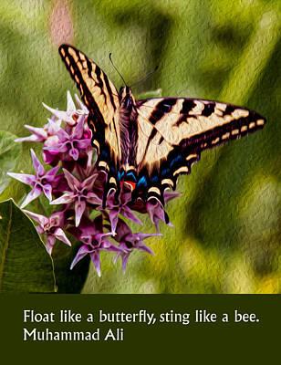 Enjoyment Mixed Media - Float Like A Butterfly by Omaste Witkowski