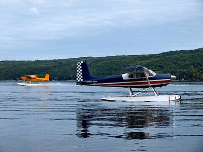 Float Plane Photograph - Float Planes On Keuka by Joshua House