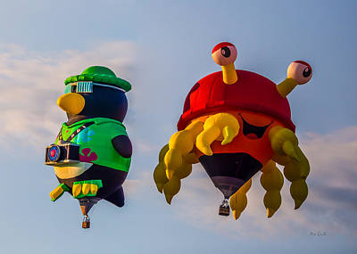 Fall Photograph - Floating Aerial Photographer And The Smiling Crab by Bob Orsillo