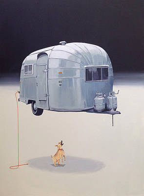 Barking Painting - Floating Airstream by Jeffrey Bess