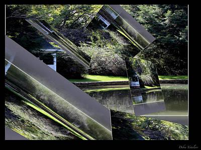 Delightful View Mixed Media - Floating Landscape A by Debra     Vatalaro
