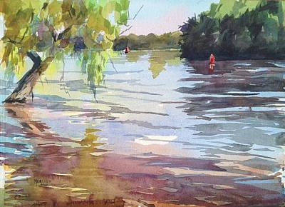 Mississippi River Painting - Flood Waters Approaching by Spencer Meagher