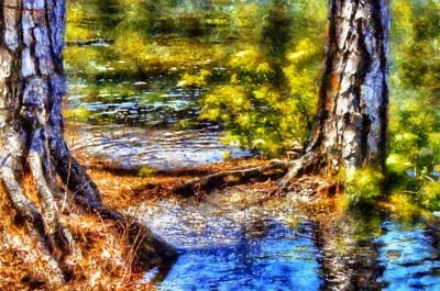 Tree Roots Digital Art - Flooded Roots by Daniel Eskridge