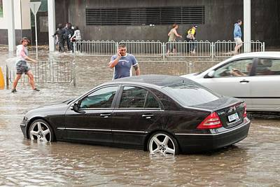 Flooding Photograph - Flooding In Melbourne by Ashley Cooper
