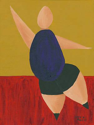 Ballet Painting - Floor Dancer 2 by Darice Machel McGuire