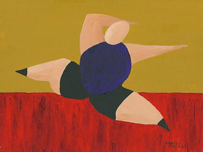 Ballet Painting - Floor Dancer 4 by Darice Machel McGuire