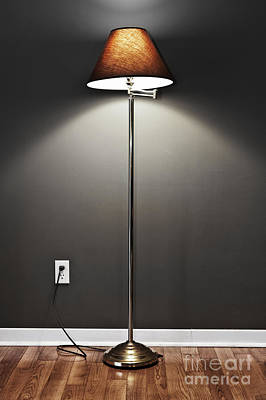 Plug Photograph - Floor Lamp by Elena Elisseeva