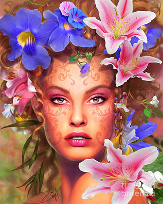 Flora Print by Drazenka Kimpel