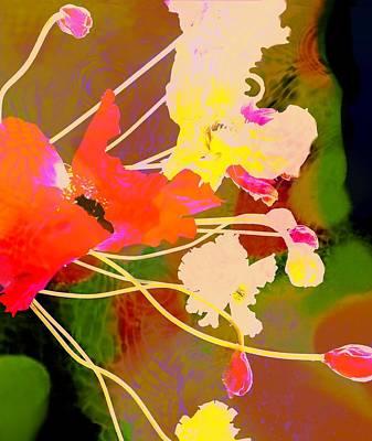 Flower Digital Art - Floral Burst by Cindy Edwards