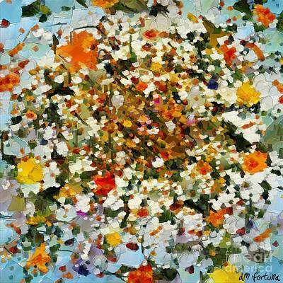 Abstract Mixed Media - Floral Chaos by Dragica  Micki Fortuna
