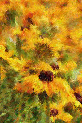 Abstract Mixed Media - Floral Explosion Abstract by Georgiana Romanovna