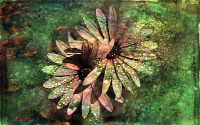 Daisies Digital Art - Floral Fiesta - S15c by Variance Collections