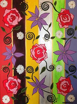 Floral Frenzy Original by April Mickens