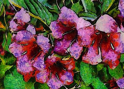 Nature Abstract Mixed Media - Floral In Paradise Collage by Pepita Selles