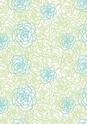 Floral Lines Print by Susan Claire