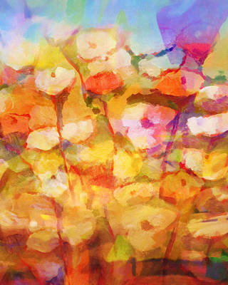 Flower Abstract Painting - Floral Poem by Lutz Baar