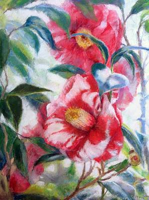 Roses Painting - Floral Print by Nancy Stutes