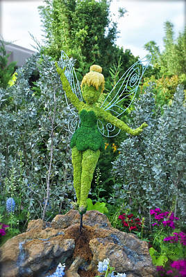 Floral Tinker Bell Print by Thomas Woolworth