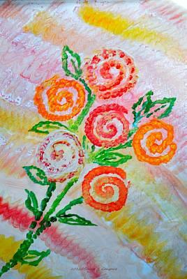 Happy Christmas Everyone Painting - Floralen Traum by Sonali Gangane