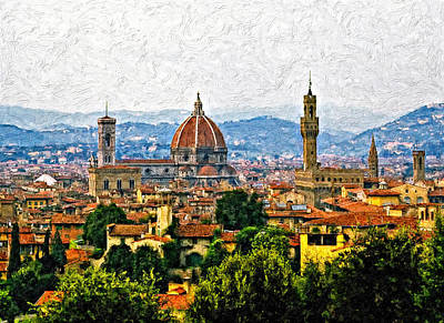 Florence Impasto Print by Steve Harrington