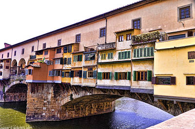 Florence Italy Ponte Vecchio Print by Jon Berghoff