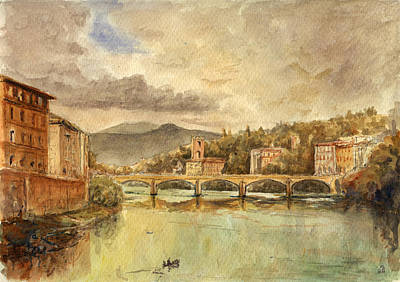 Urban Trees Painting - Florence by Juan  Bosco