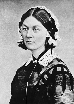 White Background Photograph - Florence Nightingale by Underwood Archives