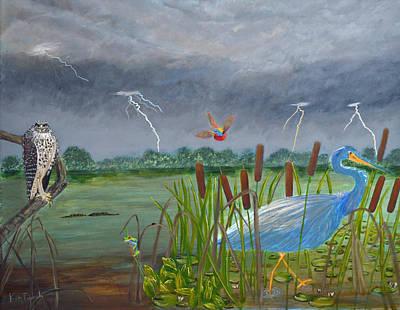 Florida Everglades Thunderstorm Print by Ken Figurski