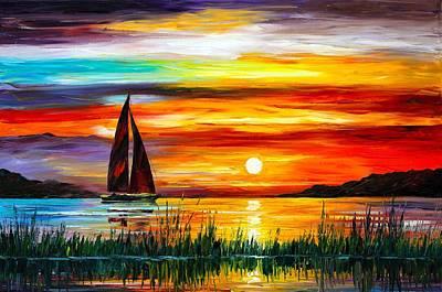 Owner Painting - Florida-lake Okeechobee by Leonid Afremov