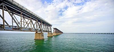 Florida Overseas Railway Bridge Near Bahia Honda State Park Print by Adam Romanowicz