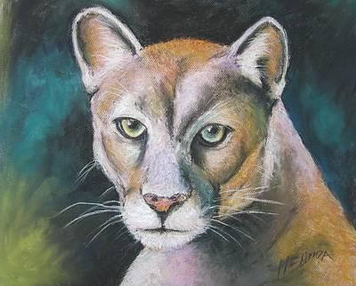 Florida Panther Print by Melinda Saminski