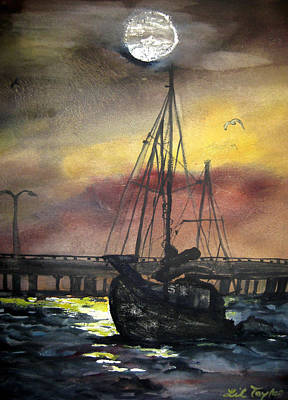 Florida Sailing Print by Lil Taylor