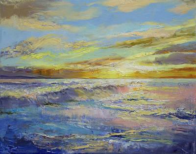 Sunrise Oil Painting - Florida Sunrise by Michael Creese