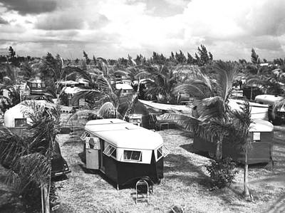 Florida Trailer Camp Print by Underwood Archives