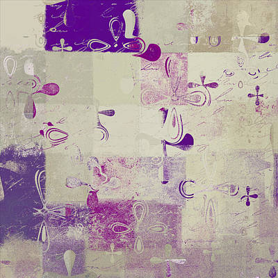Beige Abstract Art Digital Art - Florus Pokus A01d by Variance Collections