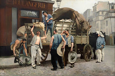 Carrier Painting - Flour Carriers - Scene From Paris by Mountain Dreams