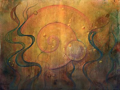 Inktense Painting - Flow #3 by Ellen Starr