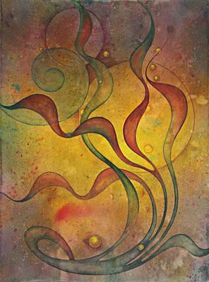 Inktense Painting - Flow #5 by Ellen Starr