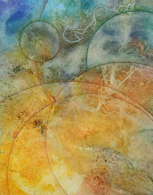 Sphere Painting - Flow 6a by Ellen Starr