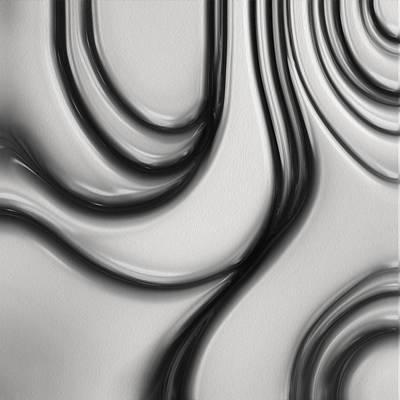 Language Digital Art - Flow II by Jack Zulli