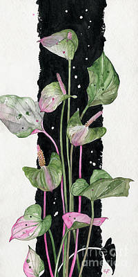 Painting - Flower Anthurium 02 Elena Yakubovich by Elena Yakubovich