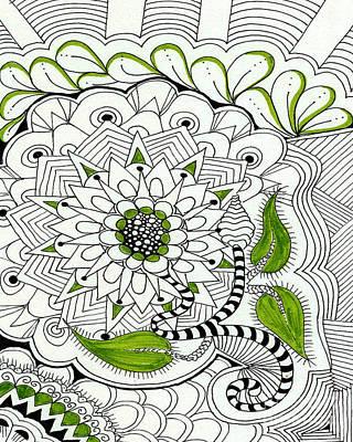 Flower Basket Original by Ruth Dailey