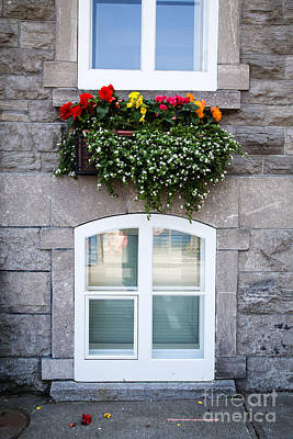 Quebec Houses Photograph - Flower Box Old Quebec City by Edward Fielding