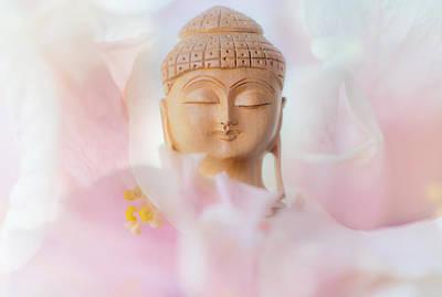 Flower Buddha 3 Print by Jenny Rainbow