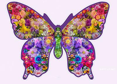 Euphoria Photograph - Flower Butterfly by Alixandra Mullins