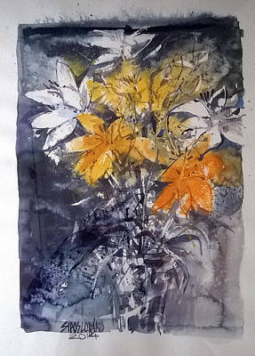 Mood Painting - Flower Composition by Lorand Sipos