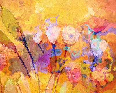 Flower Abstract Painting - Flower Concerto by Lutz Baar
