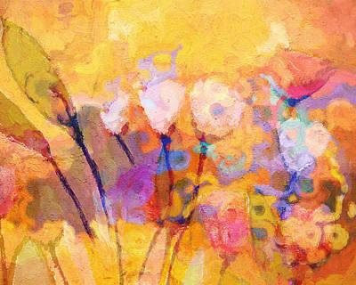 Serenade Painting - Flower Concerto by Lutz Baar